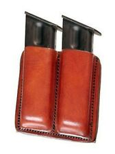 TAGUA BROWN LEATHER DOUBLE MAGAZINE CARRIER/POUCH FOR SPRINGFIELD XD/ XDM 45