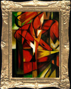 Details about ABSTRACT FOX Painting - Dollhouse Art Picture - MADE IN  AMERICA  FAST DELIVERY!