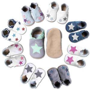 billiger 0035e 1d59e Details zu Baby Krabbelschuhe, kinder Hausschuhe, Baby Lederschuhe Sterne  von HOBEA-Germany
