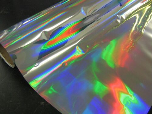 "Rainbow Oil Slick Sign Vinyl or Black Gold Silver Holographic 24/"" x 75 Feet"