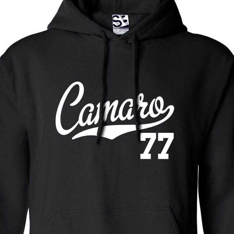 Camaro 77 Script & Tail HOODIE - Hooded 1977 Muscle Car Sweatshirt All Farbes