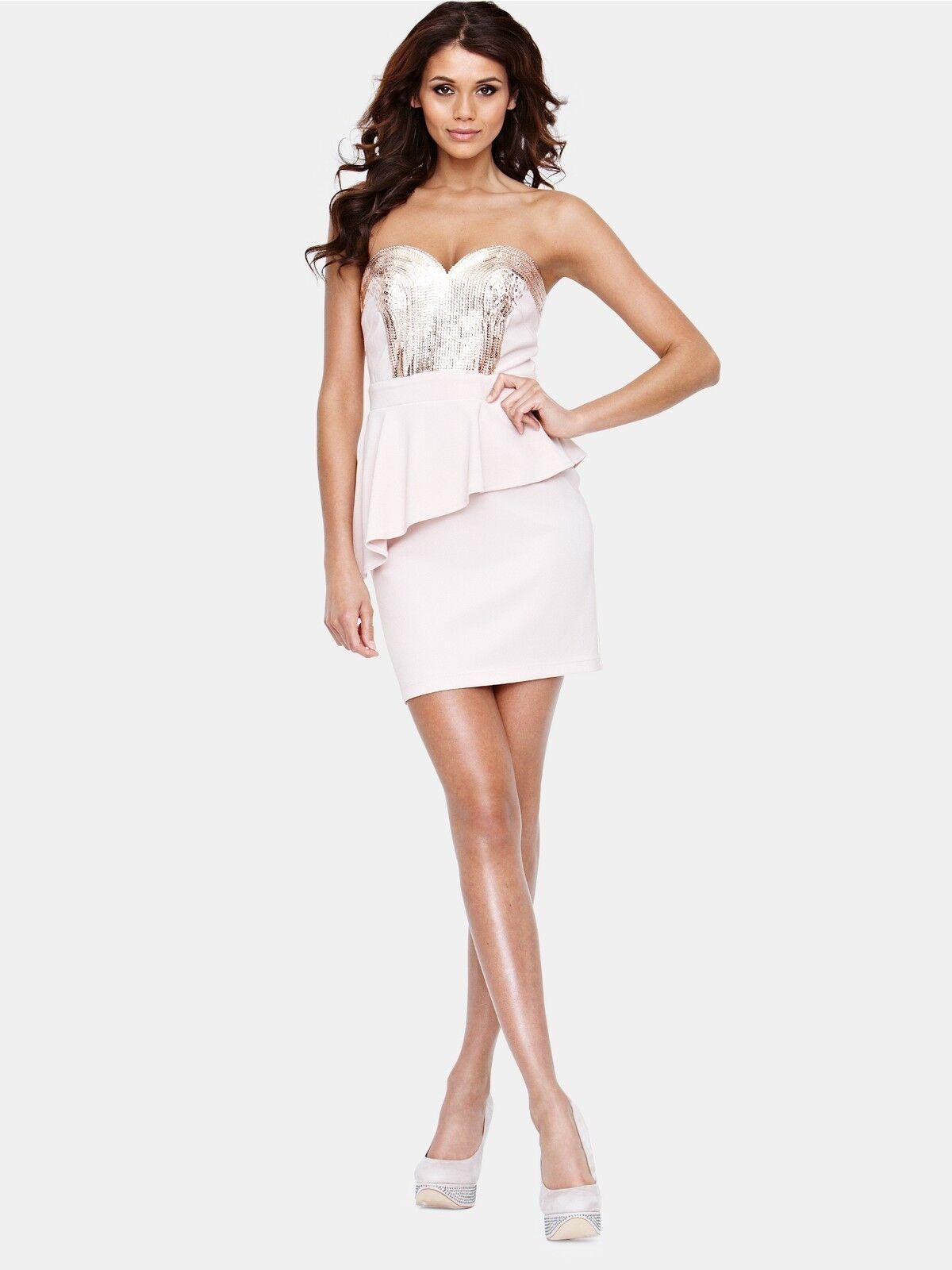 LIPSY Embellished Bustier Peplum Dress  Size 10 RRP  (DEFECT)