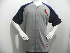 NEW Nike St Louis Cardinals MLB Baseball Jersey Shirt Mens Large Gray Navy
