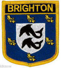 "Brighton (Shield) Embroidered Patch 6CM X 7CM (2 1/2"" X 2 3/4"")"