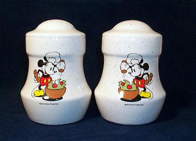Salt Pepper Shakers Chef Mickey Mouse Walt Disney Productions Treasure Craft USA
