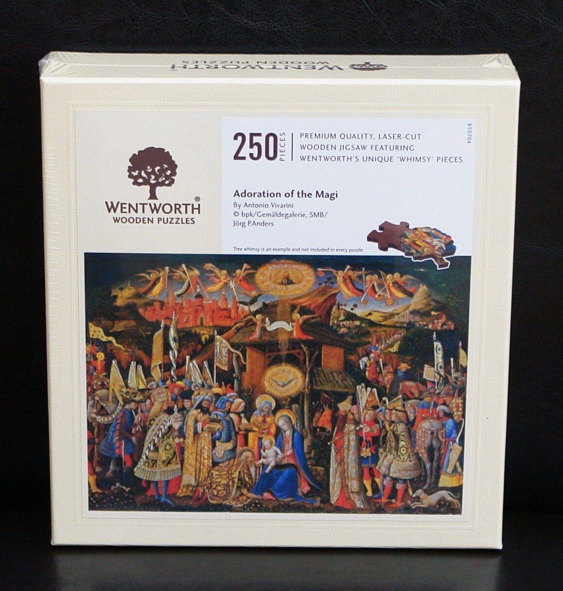 WENTWORTH WOODEN JIGSAW PUZZLE 250 PIECE ADORATION OF THE MAGI ANTONIO VIVARINI