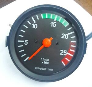 tachometer rev counter 0 2700 rpm 100mm alternator driven. Black Bedroom Furniture Sets. Home Design Ideas