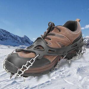 Ein-Paar-19-Zaehne-Klettern-Eis-Schnee-Steigeisen-Edelstahl-Anti-Rutsch-Griffe