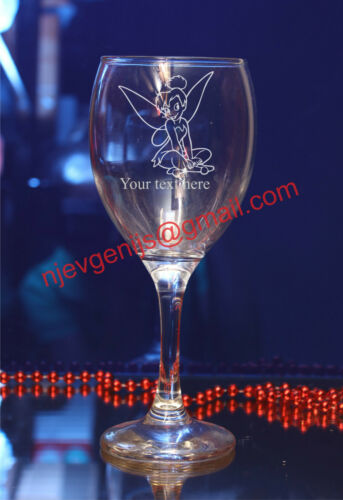 Personalisedn Tinkerbell 1  engraved glases for Birthday,Christmas gift#174