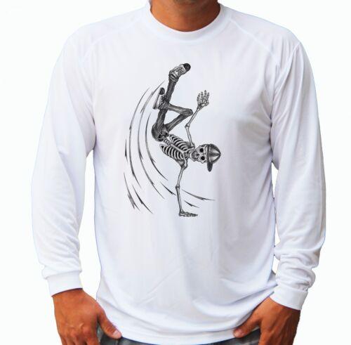 Parkour Skeleton Long Sleeve UPF 30 T-Shirt Boat Beach Sport UV Protection Gift