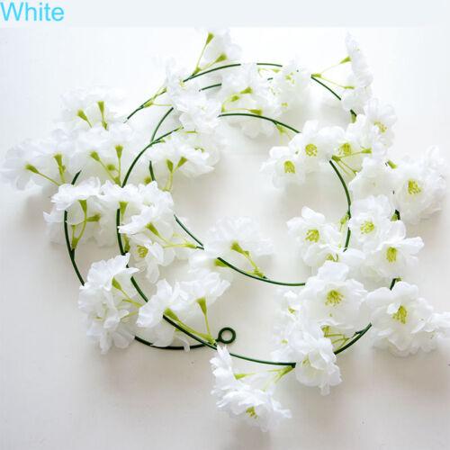2m Cherry Blossom Vine Artifical Fake Sakura Vines Wedding Party DIY Home Decor