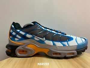 Nike Air Max Plus Premium Photo Blue Orange Wolf Grey 815994 400