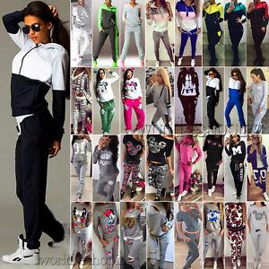 Women-2Pcs-Tracksuit-Casual-Hoodie-Sweatshirt-Pants-Set-Gym-Jogger-Sport-Outfits