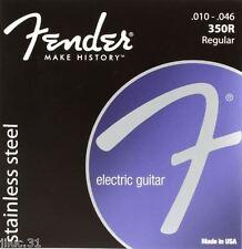 Jeu de cordes 350R FENDER - 10 à 46 - réf:073-0350-406 pour guitare électrique