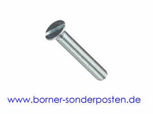 Senkschrauben-mit-Schlitz-verzinkt-M-10-x-60-DIN-963-4-8-Schlitzschrauben-neu