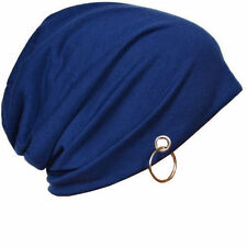Blue Color Beanie Skull Cap with Ring for Men and Women. 2 Pc (Buy 2 Get 1 Free)