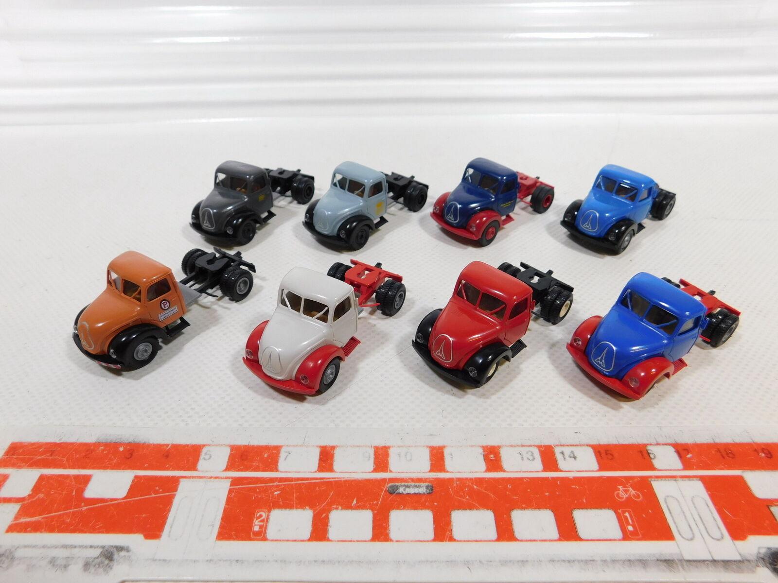 Ca384-0, 5  8x 1 87 h0 brekina truck magirus  Edeka + DB + weihenstephan etc, top