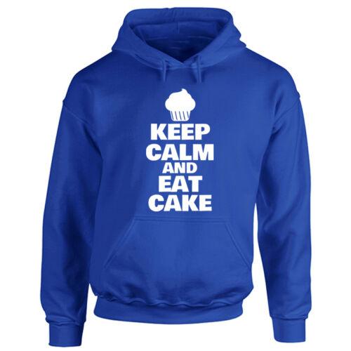 Baker Foodie Chef Love Cake Mens /& Ladies Adults Keep Calm And Eat Cake Hoodie