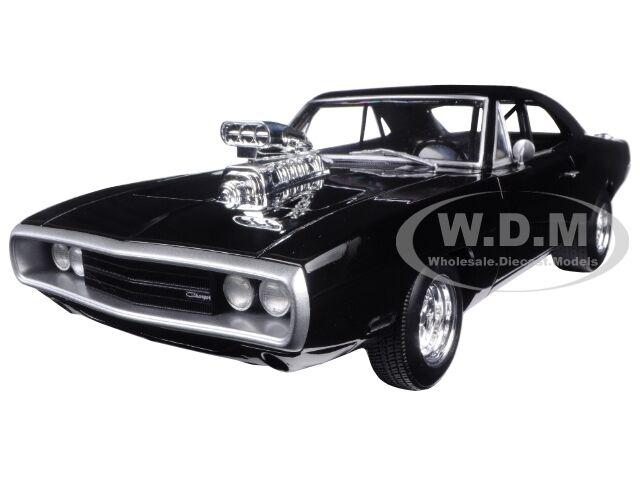ganancia cero 1970 Dodge Charger Negro  El El El Rápido & Furioso  Movie 2001 1 18 por Hotwheels cmc97  Entrega directa y rápida de fábrica