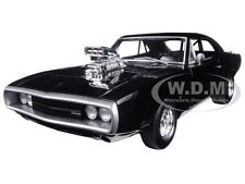 "1970 DODGE CHARGER BLACK ""THE FAST & FURIOUS"" MOVIE 2001 1/18 BY HOTWHEELS CMC97"