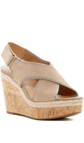 Franco Sarto Damenschuhe Wedge Sandales Sz. 9.5 Schuhe Tan Taylor Cork Platform NIB