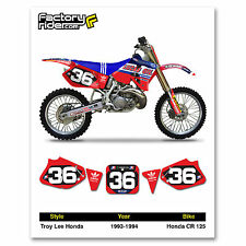 1993-1994 HONDA CR 125 Number Plate Dirt Bike Graphics DECALS TLD By Enjoy MFG