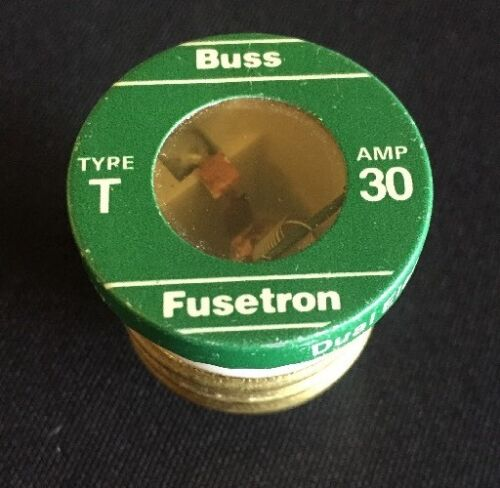 New 8 Bussmann Plug Fuse Dual Element 30 Amp 125 V Brass Industrial Strength