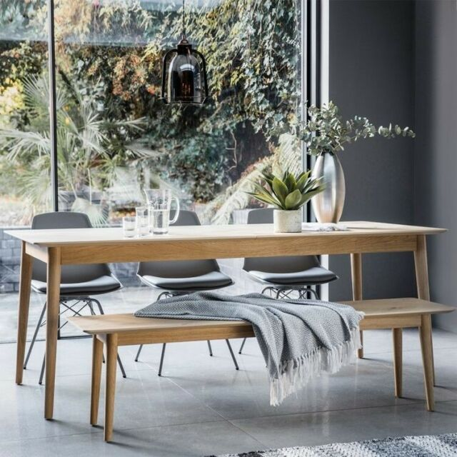 Milano Oak Extending Dining Table, Hudson Dining Room Furniture