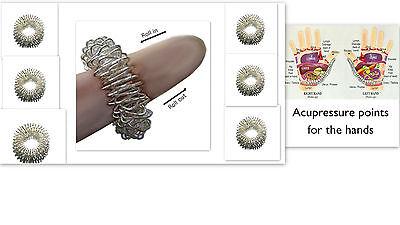 6 Oder 12xAcupressure Finger Ring Harte Massage Blutungs Steigerung Durchblutung