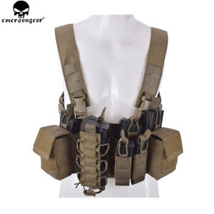 EMERSON-D3CR-Tactical-Chest-Rig-Airsoft-Hunting-Vest-W-Pouches-Molle-Heavy-Army