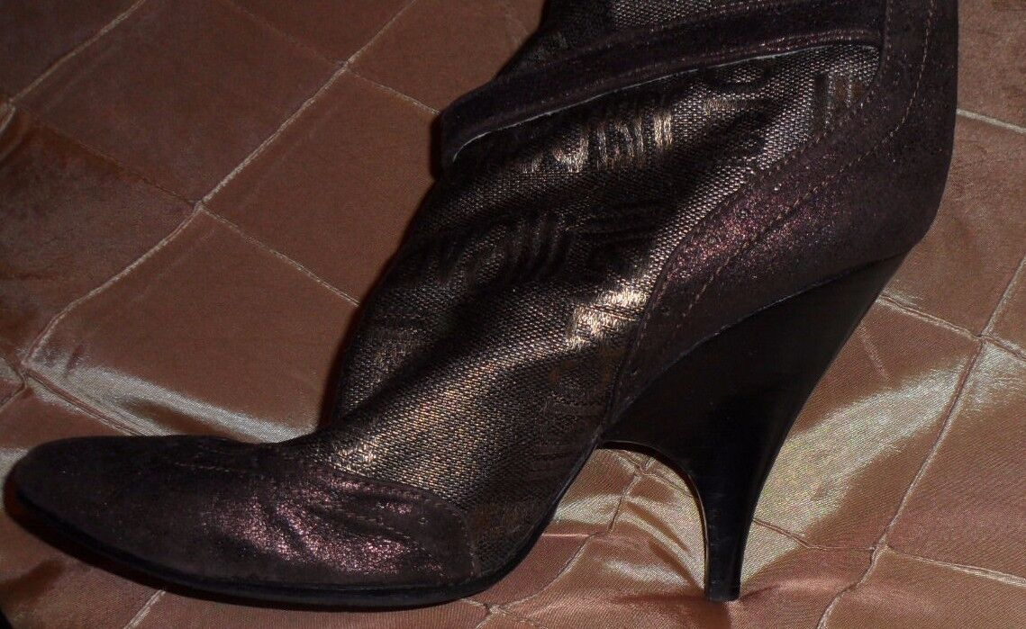 JUST WITH CAVALLI FASHIONABLE GOLDEN Stiefel WITH JUST DUST BAG,8,SLIP ON f1ddd5