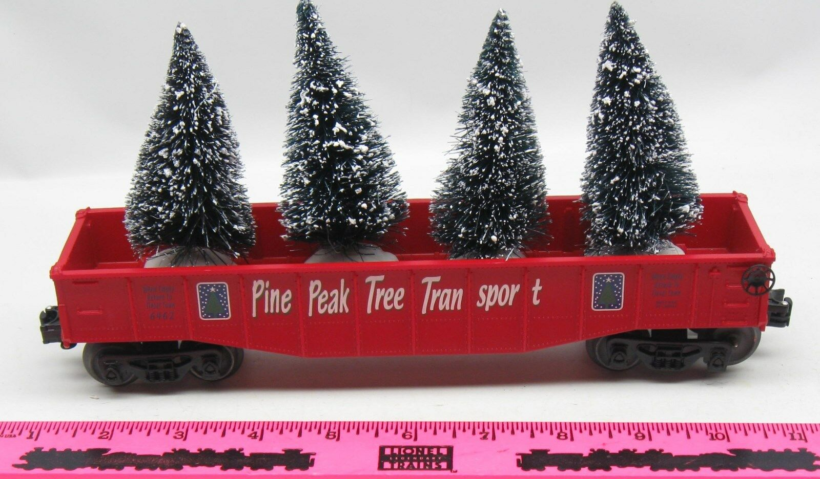 Lionel 6462 Pine Peak Tree Transport gondola with trees