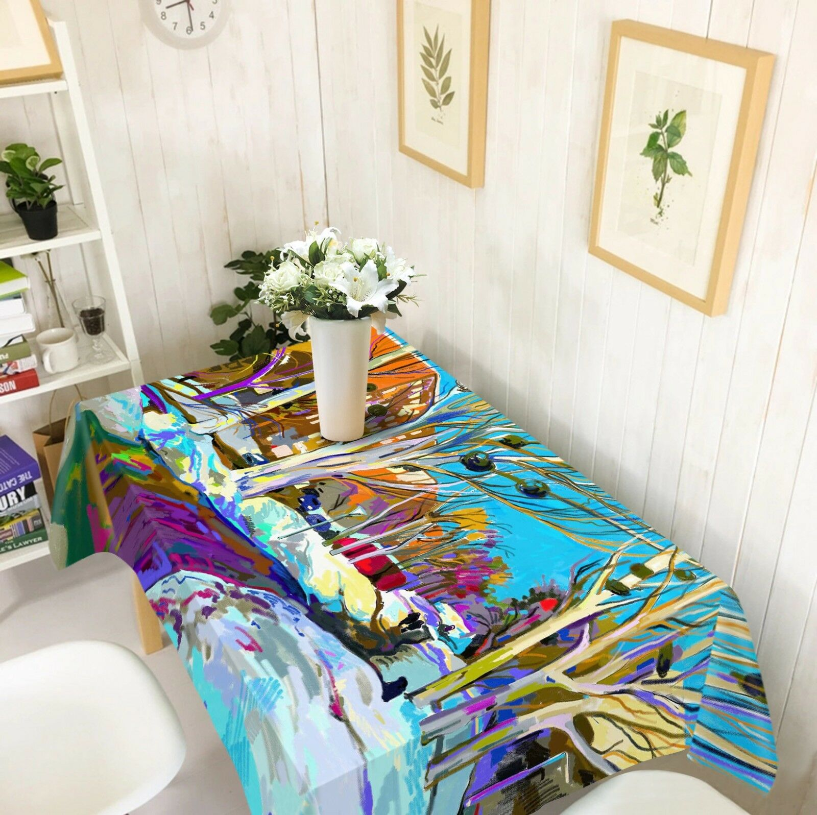 3D Street Paint 2 Tablecloth Table Cover Cloth Birthday Party Event AJ WALLPAPER
