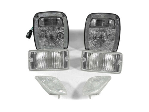 DEPO COMBO Clear Tail+Bumper Signal+Side Marker Light For 97-06 Jeep Wrangler TJ