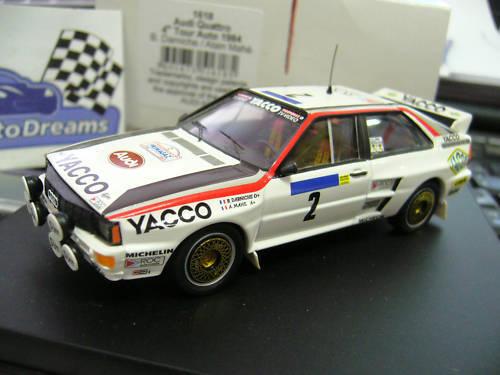 AUDI Quattro Rallye Gr.B  Tour Auto Auto Auto France 1984 Darniche Yacco Trofeu 1 43  | 2019  64ea34