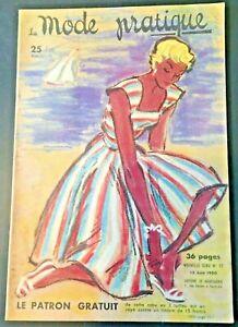 Magazine La MODE PRATIQUE  15 juin  1950  n°12