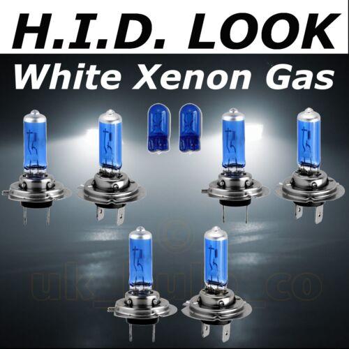 H7 H7 H7 501 55w White Xenon HID Look High Low Fog Beam Headlight Bulb Pack