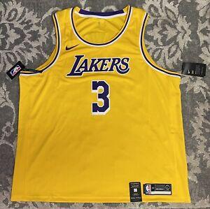 Nike NBA LA Lakers Anthony Davis Icon Swingman Jersey Mens Sz 3XL ...