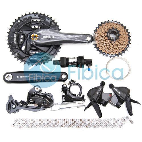 20587ded940 Shimano Altus M370 MTB City Bike Groupset Group Set 3x9 27-speed Black for  sale online | eBay
