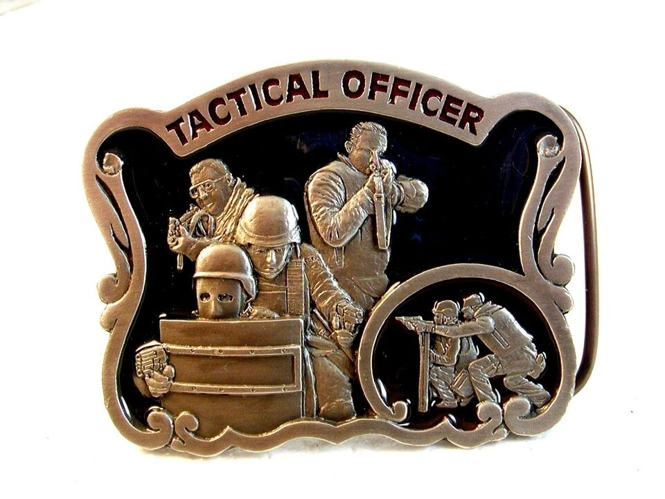 1997 Taktische Offizier Emaillierte Gürtel Buckle Hergestellt IN U.S.A