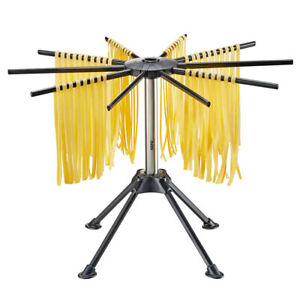 Gefu Diverso Pasta Noodle Dryer Stand/Foldable Drying Storage Rack Small Black