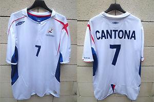 Maillot-Equipe-de-FRANCE-Beach-Soccer-Umbro-shirt-CANTONA-N-7-football-jersey-XL