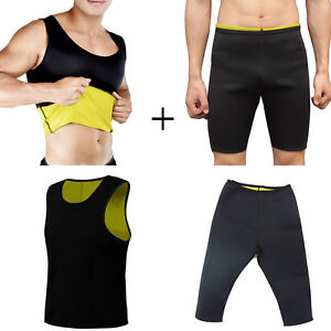 1-CANOTTA-1-PANTALONE-SNELLENTE-UOMO-HOT-SHAPERS-TRAINING-DIMAGRANTE-PALESTRA