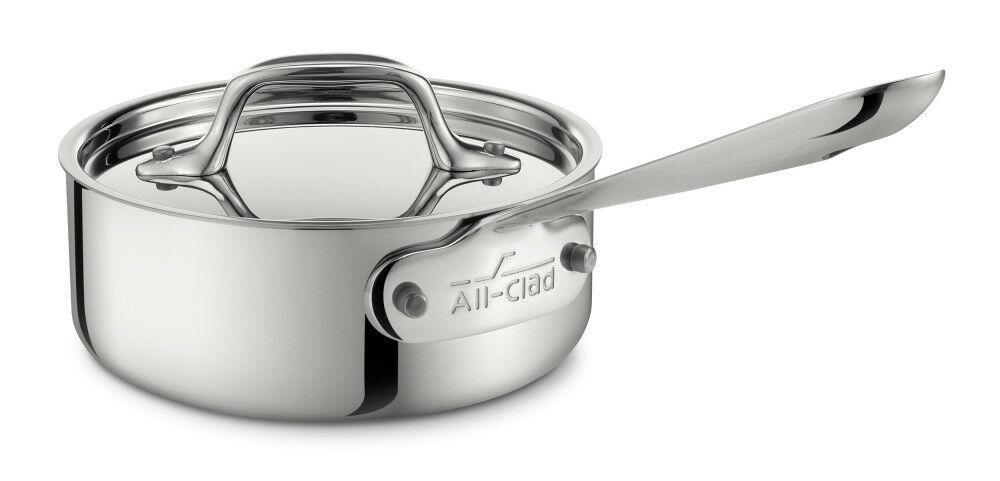 All-Clad 1 QT Stainless Steel Saucepan