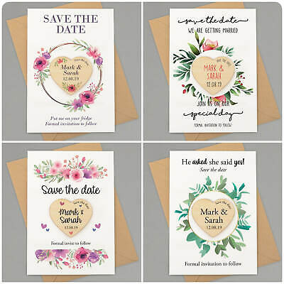 Rustic Fl Wooden Save The Dates