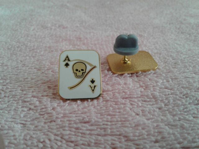 MILITARY HAT PIN- VIETNAM - ACE OF SPADES/DEATH CARD