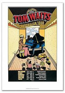 TOM-WAITS-Australian-Tour-Poster-1978-Art-Chris-Grosz