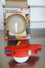Vintage Orange Dymo Label Maker Embosser Tape Writer W Box