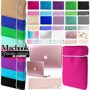 Rubberized-Hardshell-Case-Neoprene-Pouch-Keyboard-Skin-For-Apple-Macbook