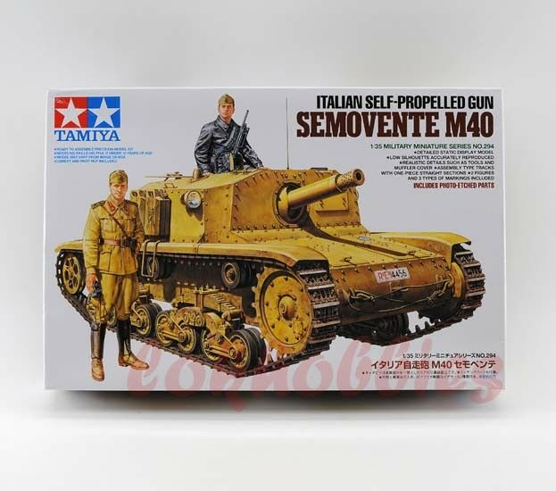 Tamiya Model 35294 1 35 Italian Self-Propelled Gun Semovente M40 Tank